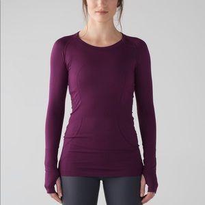 Lululemon run swiftly long sleeve marvel purple 2
